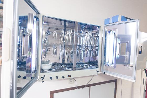 紫外線殺菌保管庫